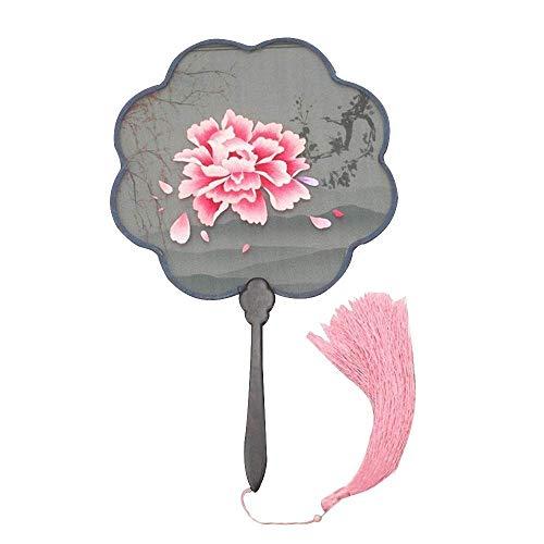 Reiche Lady Kostüm - Lllcxdc Stickfächer Chinese, Ladies Doppelseitiger Stickgrifffächer Handgenäht Dekorativ