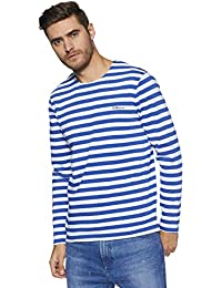 Red Tape Men's Striped Regular Fit T-Shirt