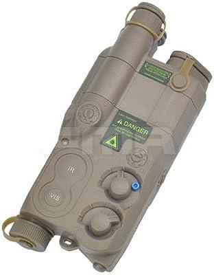 Tactical Airsoft un bronceado/peq16Funda de Batería de Dummy AEG con soporte de Ris