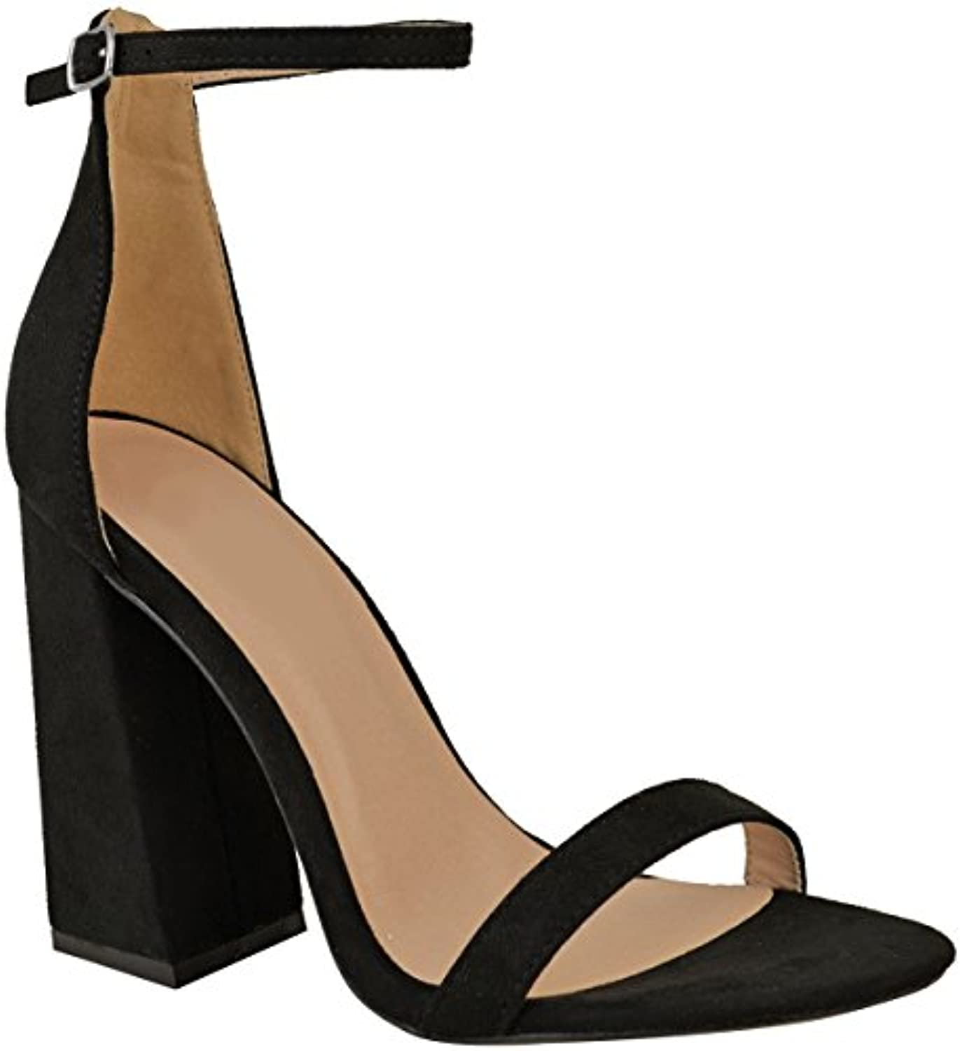 4a84bd9cb97f Fashion Thirsty Heelberry® Womens Thirsty Ladies Block High 30064 Heels  Ankle Parent Strap Barely There Sandals Shoes New Size B07CTLXBKL Parent  c9c6751 ...