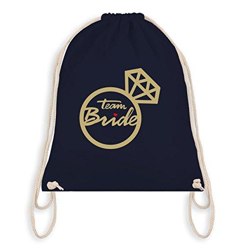 JGA Junggesellinnenabschied - Team Bride - Diamantring - Turnbeutel I Gym Bag Navy Blau