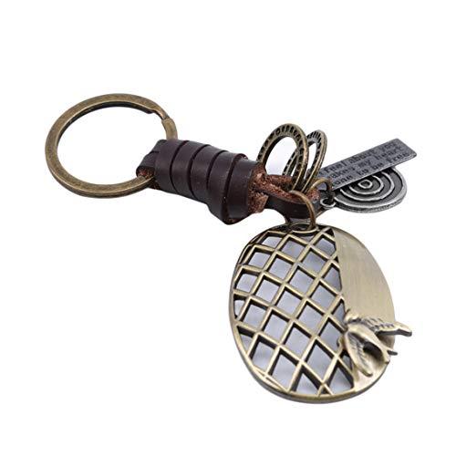 Weiy Herren Vintage Keychain Einzigartige Schlüssel Charme Hohle Schläger Tennis Keychain Damen Vogel Tasche Charme Vintage Spezielle Männer Kühlen Schlüsselanhänger Leder Retro Schmuck