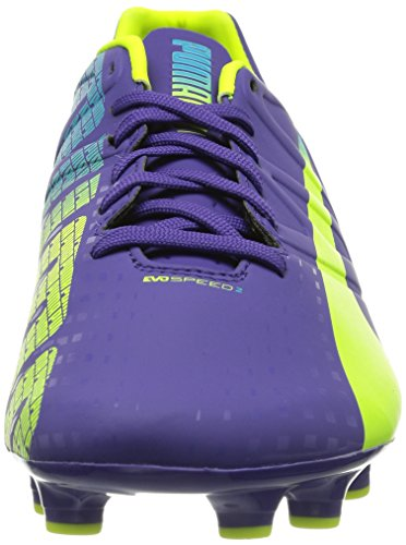 Puma Evospeed 2-3 Fg, Chaussures de football homme Violet (Prismviolet/Yellow/Blue)