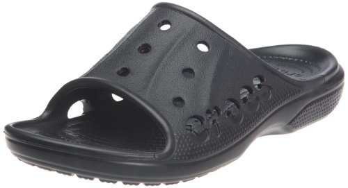 crocs Unisex-Erwachsene Baya Slide Dusch-& Badeschuhe Schwarz (Black)