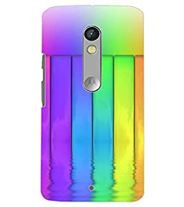 MOTOROLA MOTO X PLAY COLORFUL BARS Back Cover by PRINTSWAG