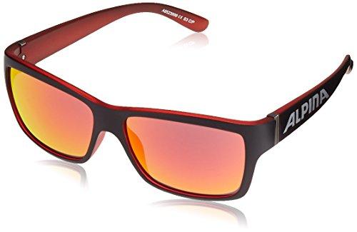 ALPINA Sonnenbrille Sport Style Kacey Promo Outdoorsport-Brille Black Matt-Red, One Size