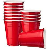 60 Vasos Rojos de Fiesta, 16 oz (473 ml) - Vasos de Plástico