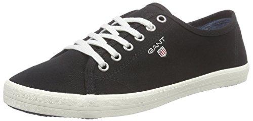 Gant New Haven, Baskets Basses Femme Noir - Schwarz (black G00)