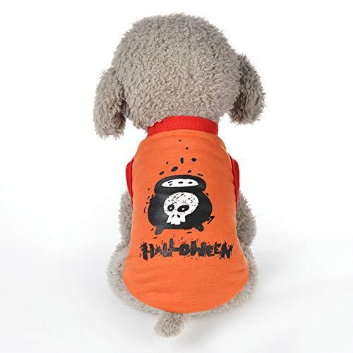 zhixing Halloween Haustier Katze Hund Schädel T-Shirt Weste Kleidung Cosplay Kostüme Outfit Für Kleine Mittlere Große Andere Haustiere Kaninchen Pudel Bulldogge Pommerschen Corgi - Kaninchen Themen Kostüm