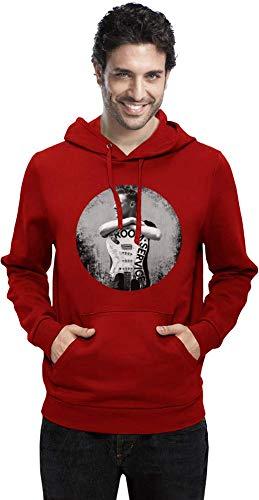 Bryan Adams mit Gitarre with Guitar Men Hoodie Sweatshirt Stylish Fashion Fit Custom Apparel by Small -
