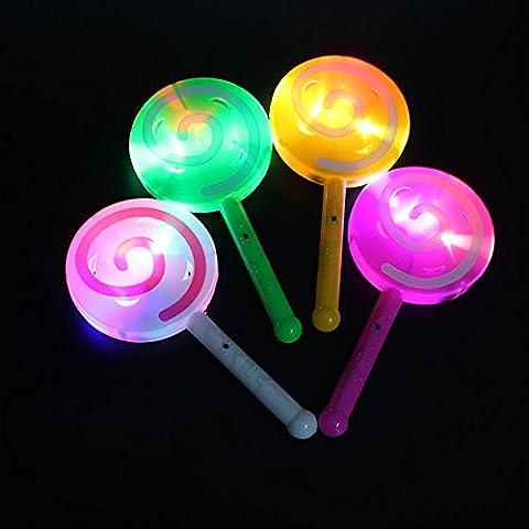 Zantec Fashion Light up LED Lollipop, Glow Stick Spielzeug, blinkende Fairy Zauberstab, Licht mit Bell, Geburtstagsfeier Dekoration, zufällige (Netter Baby-affe-kostüme)