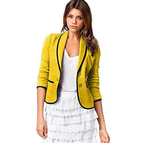 Mymyguoe Frauen Büro Dame Mantel Blazer Anzug Langarmshirts Slim Jacke Outwear Candy-Farbe Hülse...