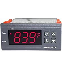Inkbird ITC-1000 Termostato Digital Calefacción y Refrigeración con Sonda 220v, LCD Display y