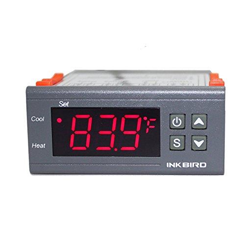 Inkbird ITC-1000 Termostato Digital Calefacción y Refrigeración con Sonda 220v, LCD Display y 2 Relés Control de Temperatura para Fabricación de cerveza, Reptiles incubadora, Acuarios marino, Frigorifico y Ventilador