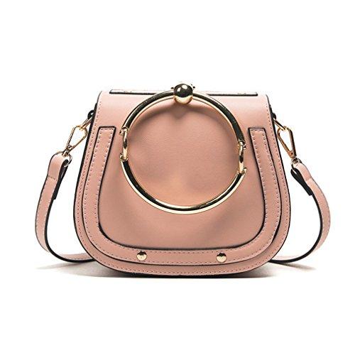 Casual Mädchen Schultertasche Kleine Handtasche Crossbody für Frauen Messenger Cloe Pink Colour 22x8x16cm