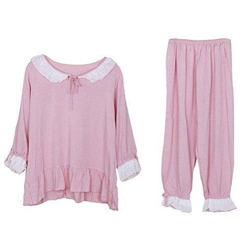 Zhuhaitf Quality Premium Womens Long Sleeve Pajama Set Pink