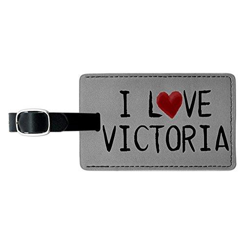 i-love-victoria-geschrieben-auf-papier-leder-gepack-id-tag-koffer-handgepack