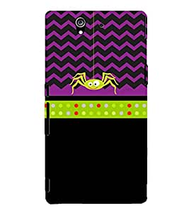 Clipart Spider 3D Hard Polycarbonate Designer Back Case Cover for Sony Xperia Z :: Sony Xperia Z L36h