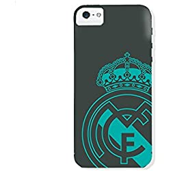 Real Madrid RMCAR003 - Carcasa con escudo para Apple iPhone SE, Negro