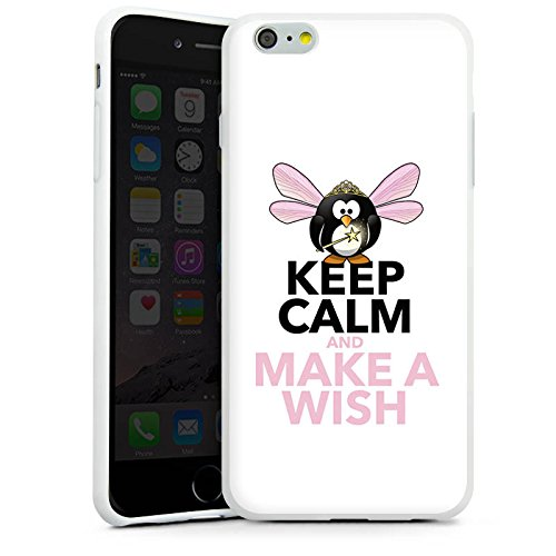 Apple iPhone X Silikon Hülle Case Schutzhülle Keep Calm Sprüche Wunsch Silikon Case weiß