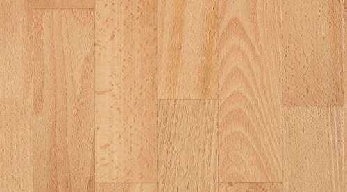 Gerflor PRIMETEX - Aurore Natural 0137 PVC Linoleum Rolle, Fußbodenbelag, PVC Vinyl Bodenbeläge - Holzdekor - Breite 4m