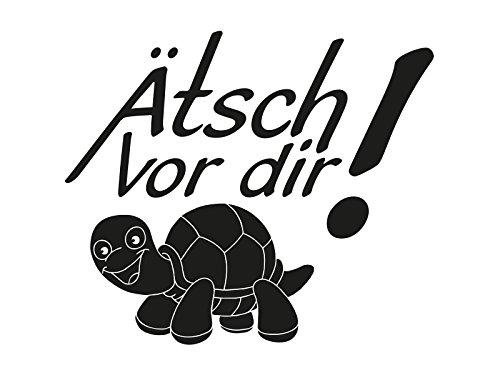 (1 x Plott Aufkleber Ätsch vor dir Turtle Schildkröte Sticker Tuning Decal OEM)