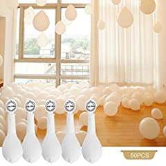 Idea Regalo - YOHOOLYO 50 x Palloncini LED Palloncini Luminosi Palloncini Bianchi Luce Led Bianca da 30cm per Matrimoni Festa Compleanno ecc - Bianco