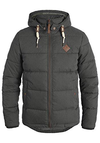 !Solid Dry Herren Jacke Kapuzenjacke Steppjacke aus Hochwertiger Materialqualität, Größe:XL, Farbe:Dark Grey (2890)