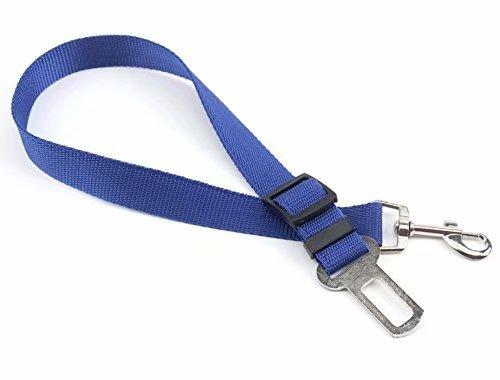 Waymeduo Cinturón de Seguridad Ajustable para Perros Arnés para Correa de Plomo para Mascotas Cinturón de Seguridad para vehículo Reflectante para automóvil Rosa