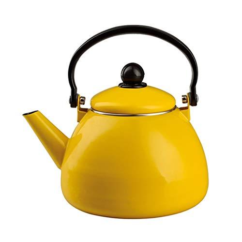 Gelber Kessel-Email-Verdickungs-Topf-Hauptinduktionsherd-Wasserkocher-Gas-Teekanne
