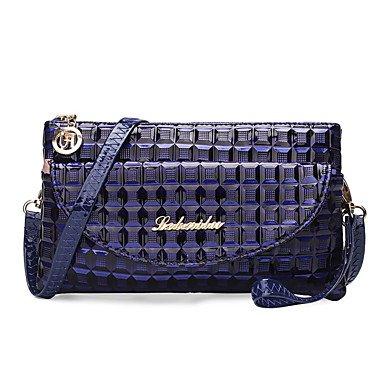 SUNNY KEY-Borsa a tracolla @ Donna Borsa a tracolla PU (Poliuretano) Per tutte le stagioni Casual Baguette Cerniera Blu Nero Viola Vino , black blue