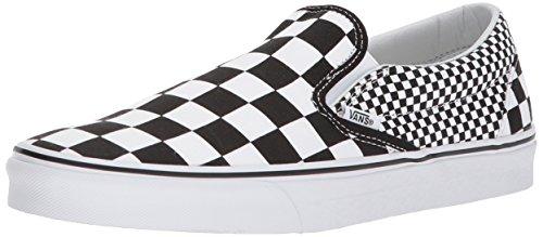 Vans Unisex-Erwachsene Classic Slip-on Sneaker, Schwarz (Mix Checker), 40 - On Vans Slip Schuhe Schwarz