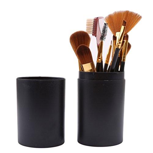 LnLyin 12-Teiliges professionelles Make-up-Pinsel-Set, Kosmetikpinsel-Set, Make-up-Werkzeug mit...