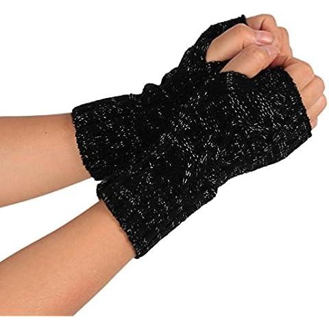RETUROM populares de la manera barata de punto guantes sin dedos del brazo de invierno suave caliente de la manopla