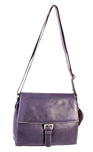 Oxbridge Satchel Shop , Sac pour femme à porter à l'épaule violet petit