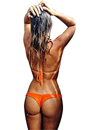 Imixcity® Femme Bandage String Maillots de bain Brésilien Bas Bikini Triangle Thong Panty