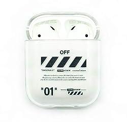 "Apple AIRPODS 1 & 2 CASE Off ANHÄNGER White Cover SCHUTZHÜLLE AIRPOD Streetwear (Off 01"")"