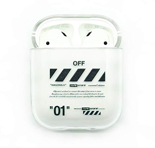 Apple AIRPODS 1 & 2 CASE Off ANHÄNGER White Cover SCHUTZHÜLLE AIRPOD Streetwear (Off 01