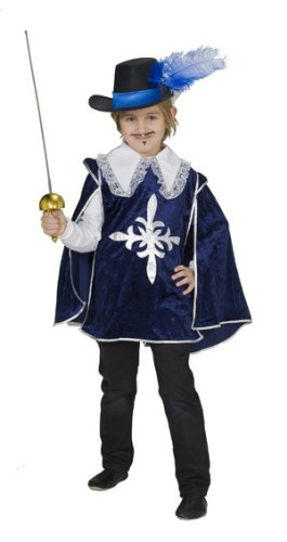 Musketierkostüm Kostüm Musketier Musketiere blau samt Gr. 104, 116, 128, 140, 152, 164, Größe:128