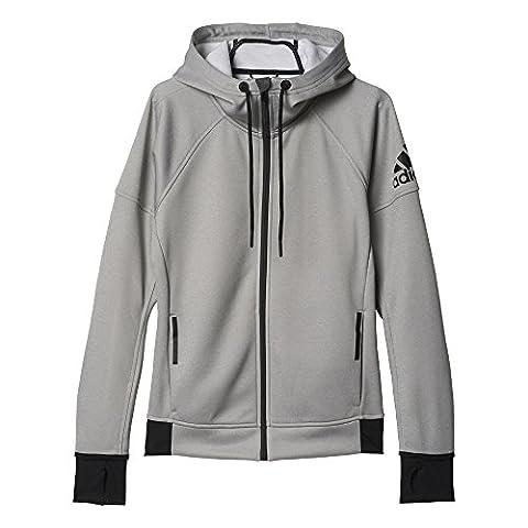 adidas Damen Sweatshirt DAYBREAKER HOOD, Grau, M, 4056561486629