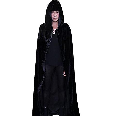 Wenyujh Femmes Cape Longue avec Capuche Costume Déguisement Sorcière Vampire Diable Manteau Châle Cosplay pour Halloween
