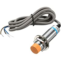 sourcing map Interruptor del sensor de proximidad inductivo no PNP DC6-36V 300mA 3-alambre lj18A-Z3-8/POR 8mm