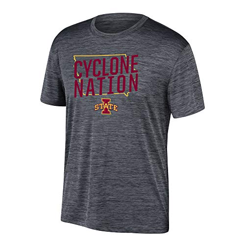 eLITe Top of The World Herren T-Shirt NCAA Poly Space Dye Invader, Herren, Men's Poly Space Dye Invader Tee, schwarz, Large - Dye Herren T-shirt