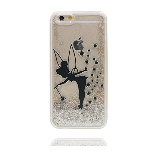 """iPhone 6S Coque, Skin Hard Clear étui iPhone 6 / 6S, Design Glitter Bling Sparkles Shinny Flowing iPhone 6 Case Shell 4.7"""", Apple iPhone 6S Cover 4.7"""" - Bling Heart résistant aux chocs # 5"""
