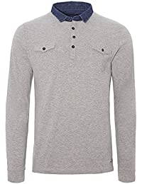 Brave Soul Mens Kennedy Long Sleeve Cotton Designer Polo Sports Top Golf Top