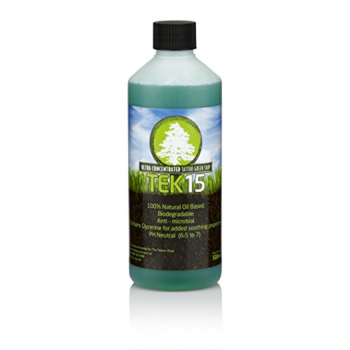 Tek15 Concentrated Tattoo Green Soap - 16oz (500ml)
