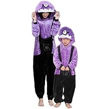 Despicable Me violette Onesie Cache-Couche - Adulte Unisexe Minion Sbires Grenouillères Pyjamas ou Déguisement - Cosplay de Halloween Costume Vêtements (Adulte XL)