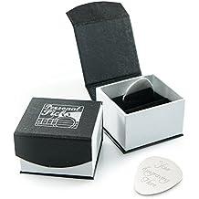 Pulsera de plata personalizada de la guitarra / selección con la caja de presentación magnética de lujo PUEDE SER GRAVADO 'Selecciones personales'