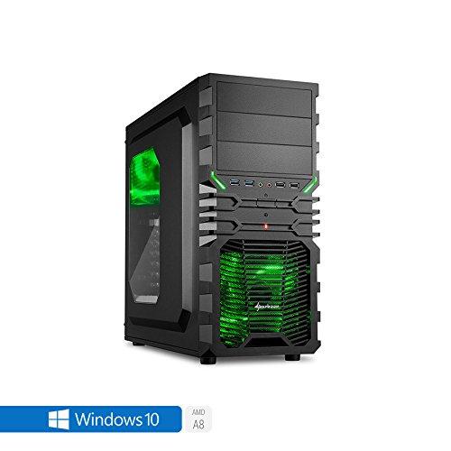 Sedatech Casual Gaming PC AMD A8-9600 4 x 3.1GHz (max 3.4Ghz), Radeon R7 Series, 4GB RAM DDR4, 1TB HDD, USB 3.0, Full HD 1080p, 80+ Netzteil. Rechner mit Windows 10 64 Bit