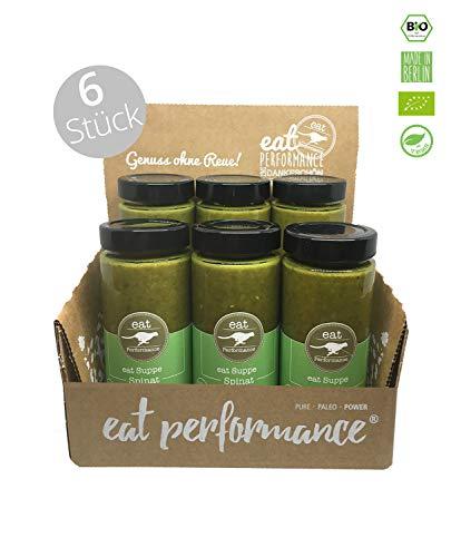 eat Performance® Spinat Suppe (6x 350ml) - Bio, Paleo, Frisch Gekocht Aus 100% Natürlichen Zutaten